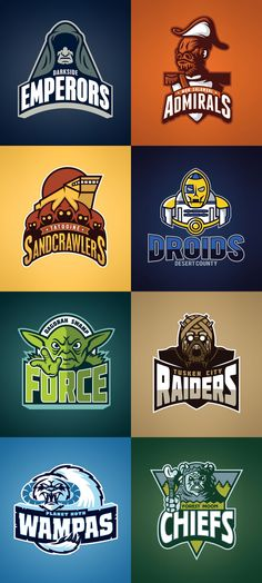 Star Wars sports team logos by David Creighton-Pester.