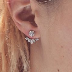 Check out these awesome earring jackets that were designed & manufactured right here in our shop! The stud could be worn alone - so there are 2 ways to wear them! Diamond Earrings, Stud Earrings, Ear Jacket, Custom Jewelry Design, Ear Rings, Vintage Accessories, Piercings, Wedding Ideas, Jewels