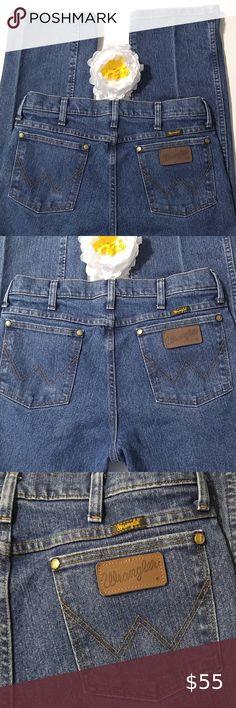 Blue Men's Jeans High Waist Jeans MOTOR Jeans Blue Cotton Pants Vintage Pant Size 32 Pockets with Leather
