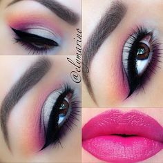 How gorgeous is this look by @elymarino !! She used the Makeup Geek lipstick in Fearless. Amazing job Elizabeth!! She's talented and sweet!  #makeup #makeupgeek #Padgram
