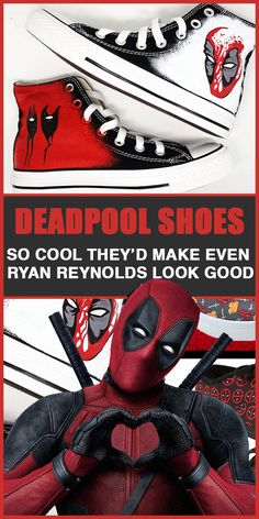 33 Best Deadpool Images Nerd Shoes Nerdy Gifts For Him Nerd Gifts