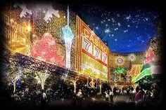 目黒川クリスマス。 ラスベガス風ですね!