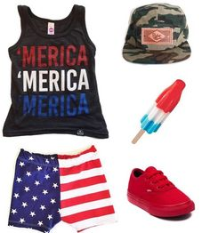 A good 4th of July or Memorial Day outfit but we live in America so we can  wear it any day