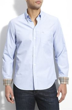 Burberry Brit Woven Trim Fit Sport Shirt available at #Nordstrom