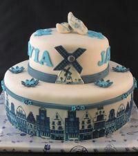 Delfs blauwe taart