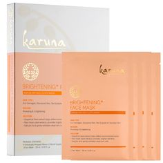 MASK Karuna Brightening+ Face Mask - deep conditioning sheet mask to help minimize the appearance of dark spots and uneven skintones