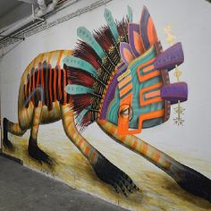 Photo of El Curiot's new mural in #Berlin at news.upperplayground.com @curiotli @Upper Playground #curiot