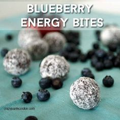 Blueberry Energy Bites | 27 Glorious Blueberry Recipes For Summer
