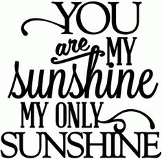 Silhouette Design View 42844 You Are My Sunshine Only
