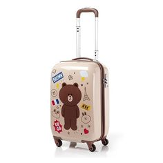 """Samsonite LINE Character GENTLE BROWN 55cm 20"""" Travel Luggage Bag Multiwheel New #Samsonite"""