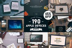 190 Apple Devices MEGA Bundle by Madebyvadim on Creative Market
