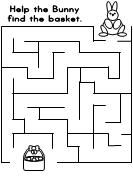 Easter Bunny Maze from Making Learning Fun