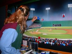 Bonnie Turner Painting X Mural Of Fenway Park   Highly Detailed! Part 56