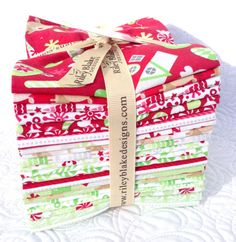 Home for the Holidays Collection Fat Quarter by StarlitQuilts, $42.00 this has the cutest reindeer and Christmas trees :-)