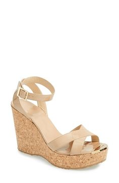 these remind me of mu childhood wedge sandals Jimmy Choo 'Papyrus' Cork Wedge Sandal (Women) available at #Nordstrom