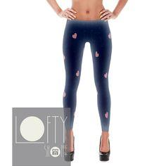 27d593a62b Tiny Pink Hearts Women's Leggings Yoga Pants Fitness Apparel from Lofty  Shoppe