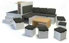 Matroshka Furniture - Swedish multifunctional furniture + Video -  Small Spaces Addiction ©