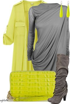 """""""Yellow Trench Coat with Sapphire Boots"""" by angkclaxton ❤ liked on Polyvore"""