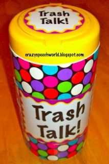 Trash Talk... very similar to the Trash or Treasure game but adapted to target…