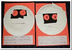 A simple, fun craft for Halloween with or without the book.. Check your library for the book, though.