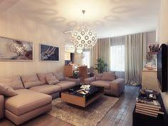 Unique Living Room Design Ideas by Artem Evstigneev