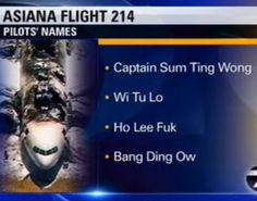 KTVU Apology For Friday Noon Report - Asiana Flight 214 Pilot Names. A summer intern acted outside the scope of his authority when he erroneously confirmed the names of the flight crew on the aircraft. Complete Full Transcript, Dialogue, Remarks, Saying, Quotes, Words And Text.