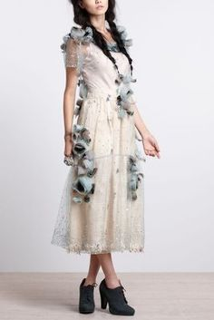 Asra Tulle Midi Dress