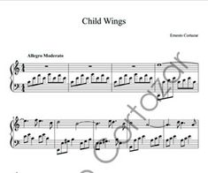 Child Wings - Piano Sheet Music now available on ErnestoCortazar.net