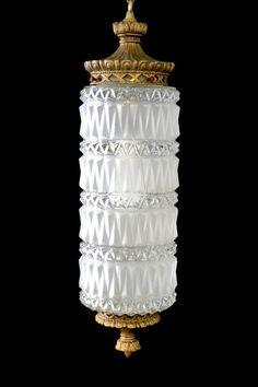 Vintage 1960s Mid Century Diamond Cut Glass by MorningGloryModerne, $44.99