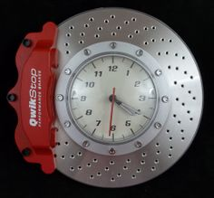 Cool Man Cave Garage Shop Brake Rotor / Caliper wall Clock QwikStop Logo