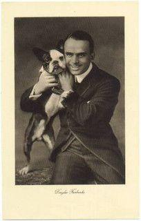 Douglas Fairbanks with Boston Terrier. Looks like my Mo. Terrier Breeds, Terrier Puppies, Bulldog Puppies, Dog Love, Puppy Love, Boston Pictures, Boston Terrier Love, Boston Terriers, Celebrity Dogs