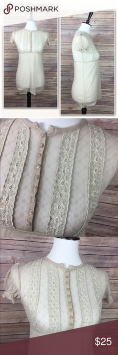 2a619fca0113 Free People See Through Peasant Blouse Reposhing - sort of... haven t