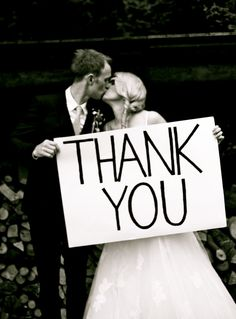 I like this for thank you cards...someone needs to remind of we can do a pic like this at our wedding