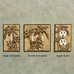 Palm Tree Tropical Decorative Switchplates