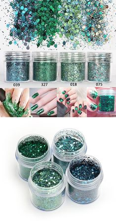 Nail Glitter Dust Powder Sequins Decoration Green Tattoo Powder Holographic Pigment Manicure is cheap, more nail decoration on NewChic are hot-sale now. Glitter Dust, Glitter Nails, Nail Decorations, Online Marketplace, Holographic, Manicure, Powder, Advertising, Sequins