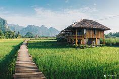 1 ปีกับ 24 ภาพที่ชอบที่สุด จากค่ายเหลืองสู่บ้าน Sony Alpha | วิชาท่องเที่ยว 101 - Pantip Zen House, Thai House, Bamboo House Design, Timber Architecture, Village House Design, Weekend House, Farm Stay, Wooden House, Landscape Pictures
