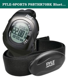 PYLE-SPORTS PSBTHR70BK Bluetooth(R) Fitness Heart Rate Monitoring Watch with Wireless Data Transmission & Sensor (Black). PYLE-SPORTS PSBTHR70BK Bluetooth(R) Fitness Heart Rate Monitoring Watch with Wireless Data Transmission & Sensor (Black).