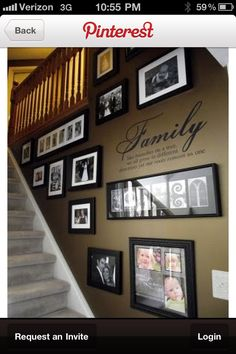 Cool stairway idea GETN READY TO REDO OUR STAIRWAY LIKE THIS! MY TOWNHOUSE STAIRWAY WAS LIKE THIS AND MY HOUSE HALLWAY WAS LIKE THIS!