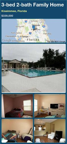 3-bed 2-bath Family Home in Kissimmee, Florida ►$339,000 #PropertyForSale #RealEstate #Florida http://florida-magic.com/properties/18700-family-home-for-sale-in-kissimmee-florida-with-3-bedroom-2-bathroom