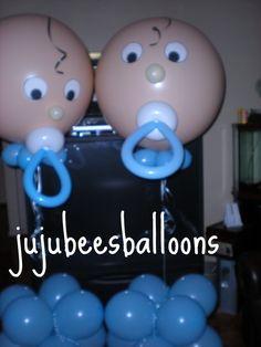 baby shower decorations for boy balloon sculpture | Balloon Portfolio - Juju-Bee's Balloon Decorating