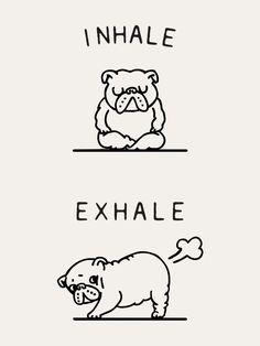 Inhale Exhale English Bulldog Art Print
