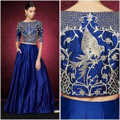 Rich blend of gotapatti, dori and zardosi embroiderey to bring in the festive season. #AnitaDongre #Pret