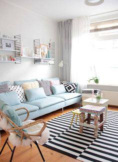 Pastel ιδέες για να διακοσμήσετε το σαλόνι σας | Jenny.gr