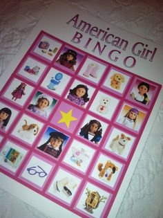 BINGO Game for your American Girl Doll Theme by sommerbabies, $14.00