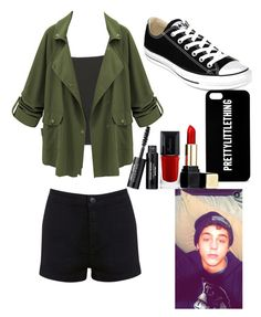 """With Nate maloley"" by leila-hussain ❤ liked on Polyvore featuring Topshop, Miss Selfridge, Converse and Guerlain"