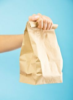 20 repurpose tips Save those brown paper shopping bags (even the ripped ones) for a rainy day—literally. Tear the bag . - Provided by Woman's Day Kids Lunch For School, Healthy Lunches For Kids, Healthy Toddler Meals, Lunch Snacks, Bag Lunches, Work Lunches, Kid Snacks, Toddler Food, School Snacks