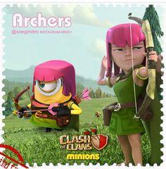 Clash of Clans Minions ~ Archers