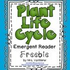 Plant Life Cycle Emergent Reader (Freebie)