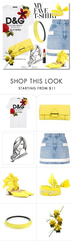 """""""T-shirt"""" by ilona-828 ❤ liked on Polyvore featuring Dolce&Gabbana, Reed Krakoff, Givenchy, E L L E R Y, Fallon, Alexis Bittar, polyvoreeditorial and MyFaveTshirt"""