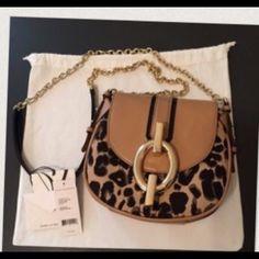 DVF handbag sacrifice worn once still has tags Gorgeous leopard bag paid $135 DVF Bags Shoulder Bags